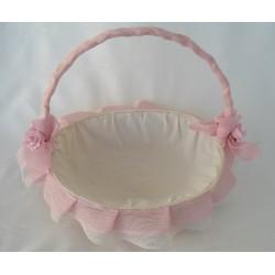 cesta decorada para boda