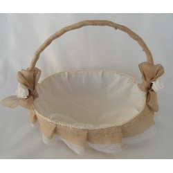 cesta grande decorada beig