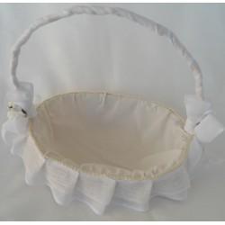 cesta pequeña decorada blanca