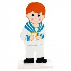 figura tarta madera marinero