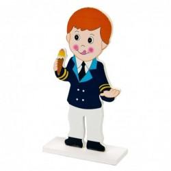 figura tarta madera almirante
