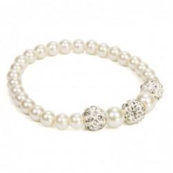 pulsera perlas blanca...