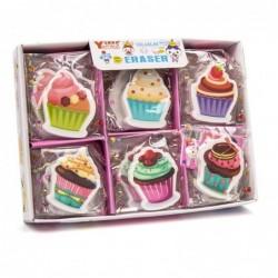 goma cup-cake caja de 30...