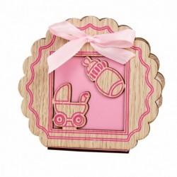 caja e madera rosa