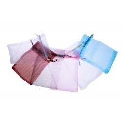 bolsa de organza 10 x 15 rosa