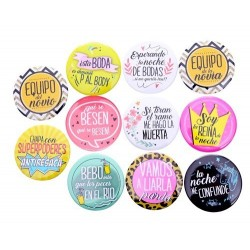 lote 11 chapas frases...