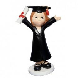 Figura niña graduacion