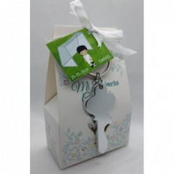 caja decorada con caramelos